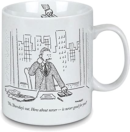 Perfect The How Never Office Cartoon Porcelain Mug About New Gift For Yorker deCBrWox