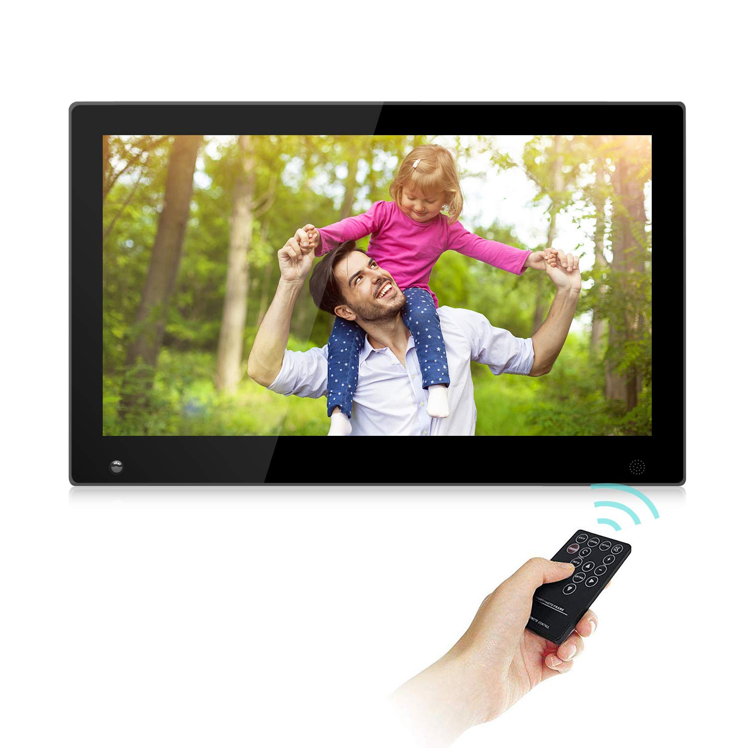 15.6 Inch Large Digital Picture Frame with Hu Motion Sensor LCD Advertising Player with 1080P LCD AV HDMI Input VESA Full IPS Remote by SSA (Image #1)