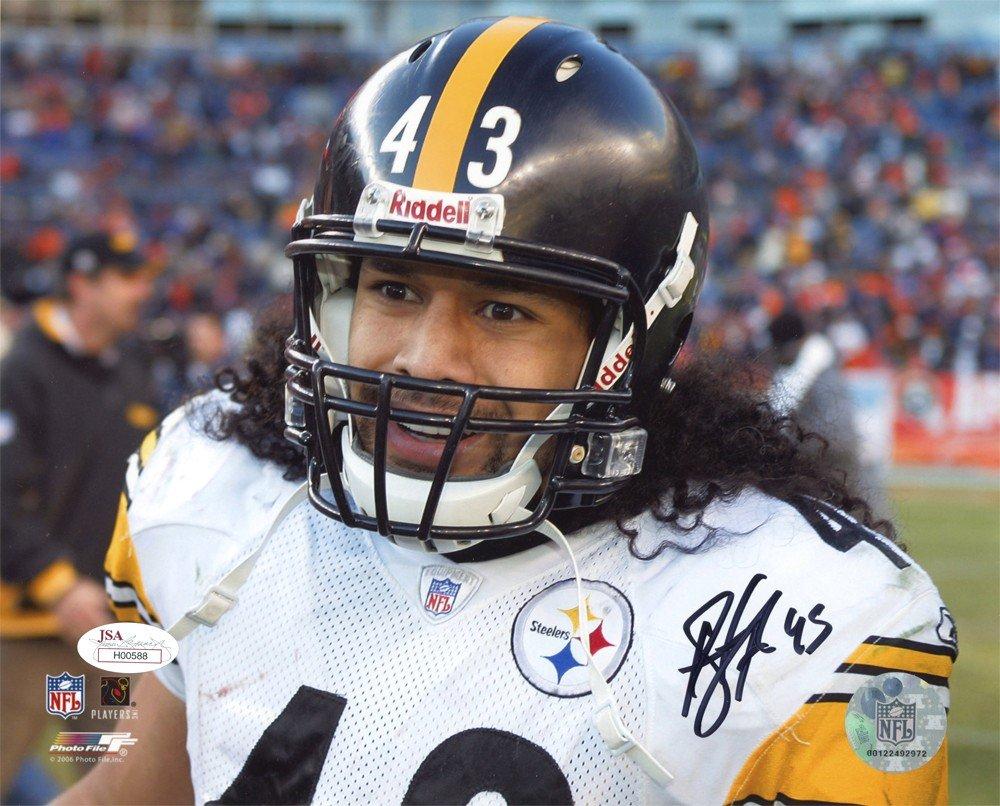 Troy Polamalu Autographed Pittsburgh Steelers 8x10 Photo (Face) - JSA COA Photofile