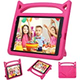 Kids Case for New iPad 9.7 2017 & 2018 - Auorld Light Weight Shock Proof Handle Stand Friendly Kids Case for iPad 9.7-inch 2017 & 2018 Latest Gen (iPad 5th & 6th Gen) - Pink