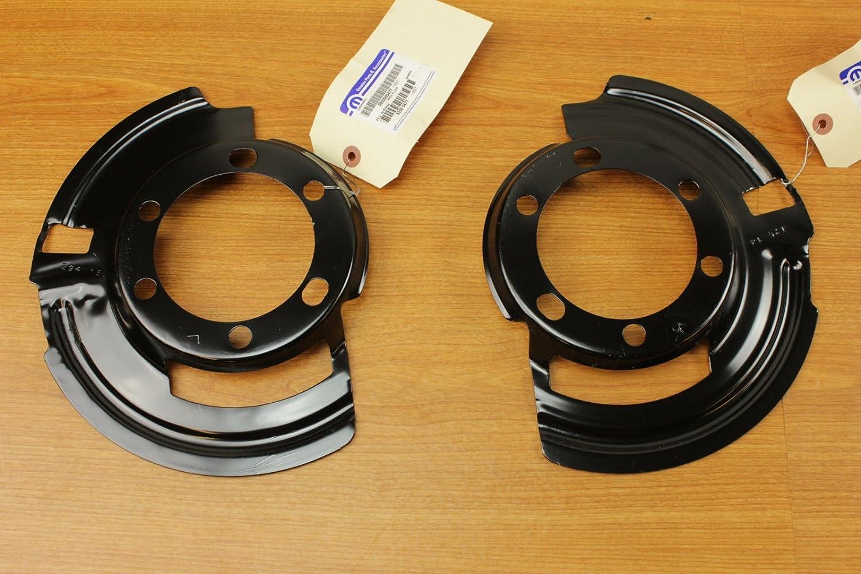 Set Of Jeep Cherokee Grand Cherokee Wrangler Front Brake Dust Shields Mopar 52005476 & 52005477