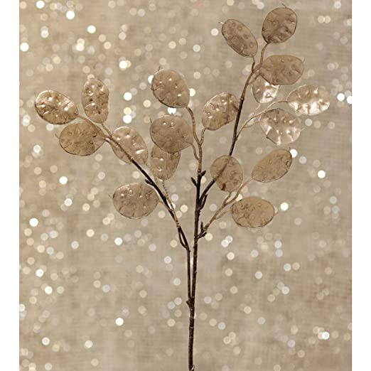 Christmas Tablescape Decor - Decorative silver dollar leaf spray