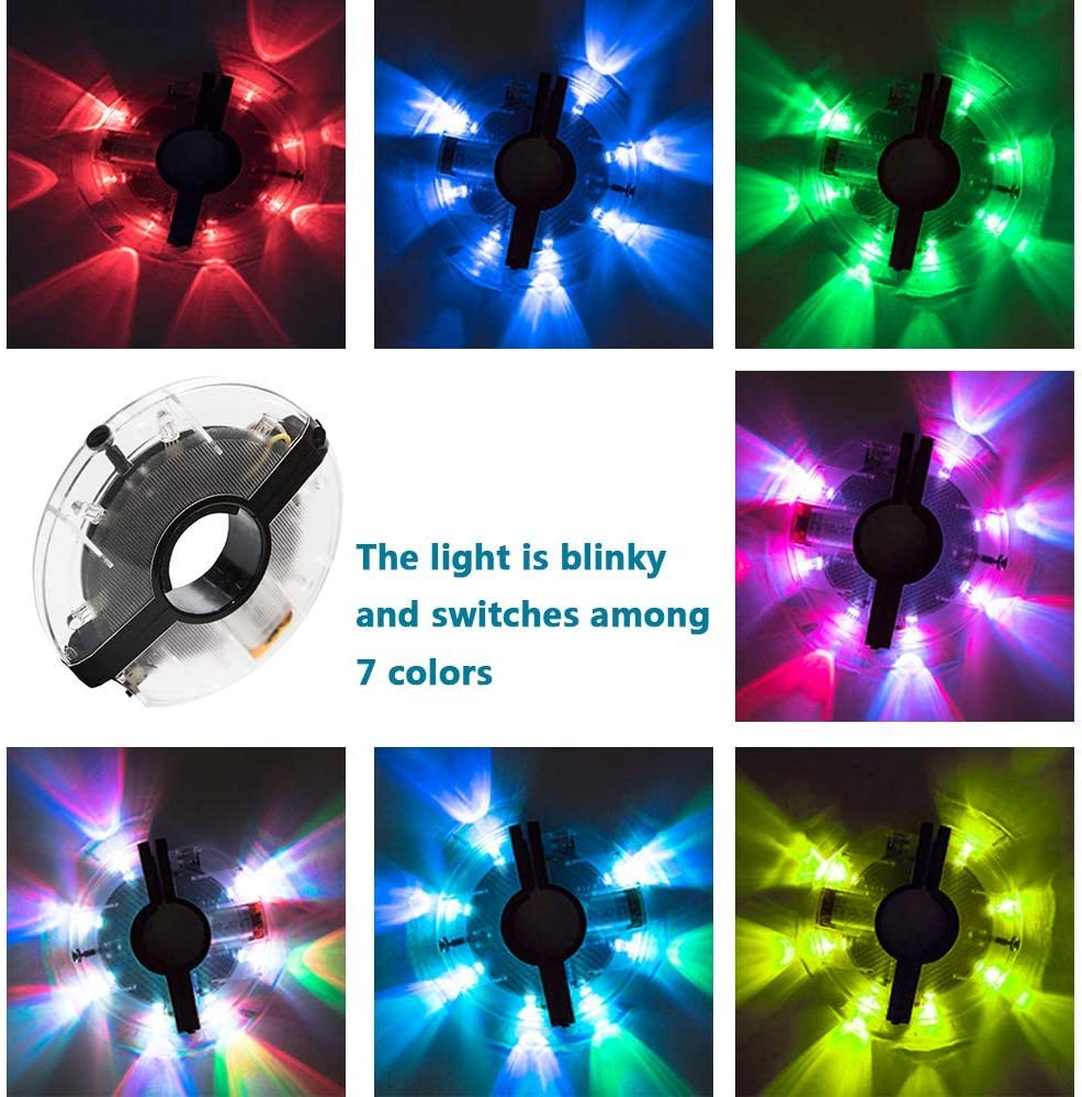 32 LED Colorful Bicycle Wheel Tire Spoke Signal Light For Bike Safety Lights SE