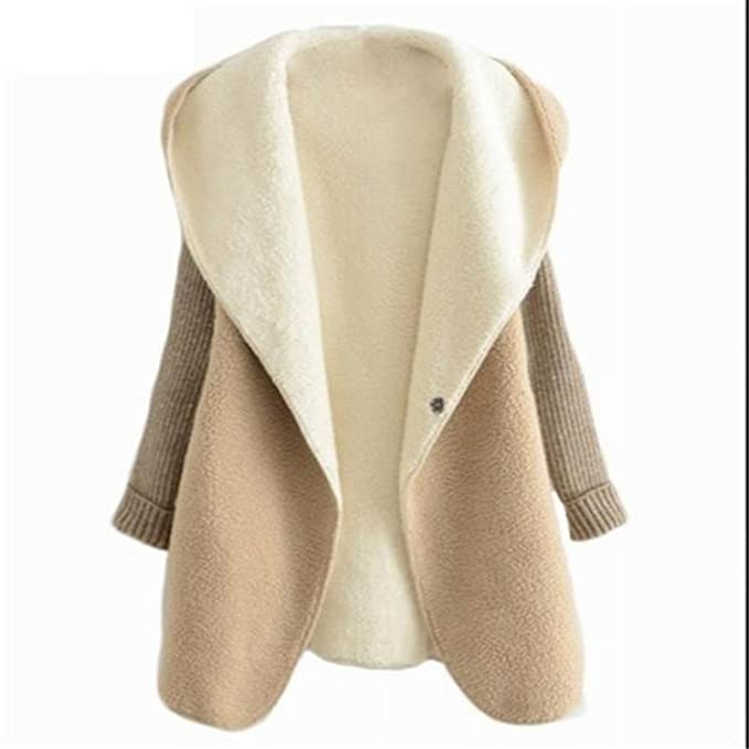 Amazon.com: Gome-z Chic Autumn Winter Cardigan Lambs Wool ...