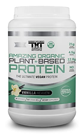 Amazing Organic Plant Based Vegan Protein Powder-The Best Vegan Protein Powder for Men and Women