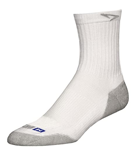 Drymax Run calcetines - Run Crew, Blanco/Gris