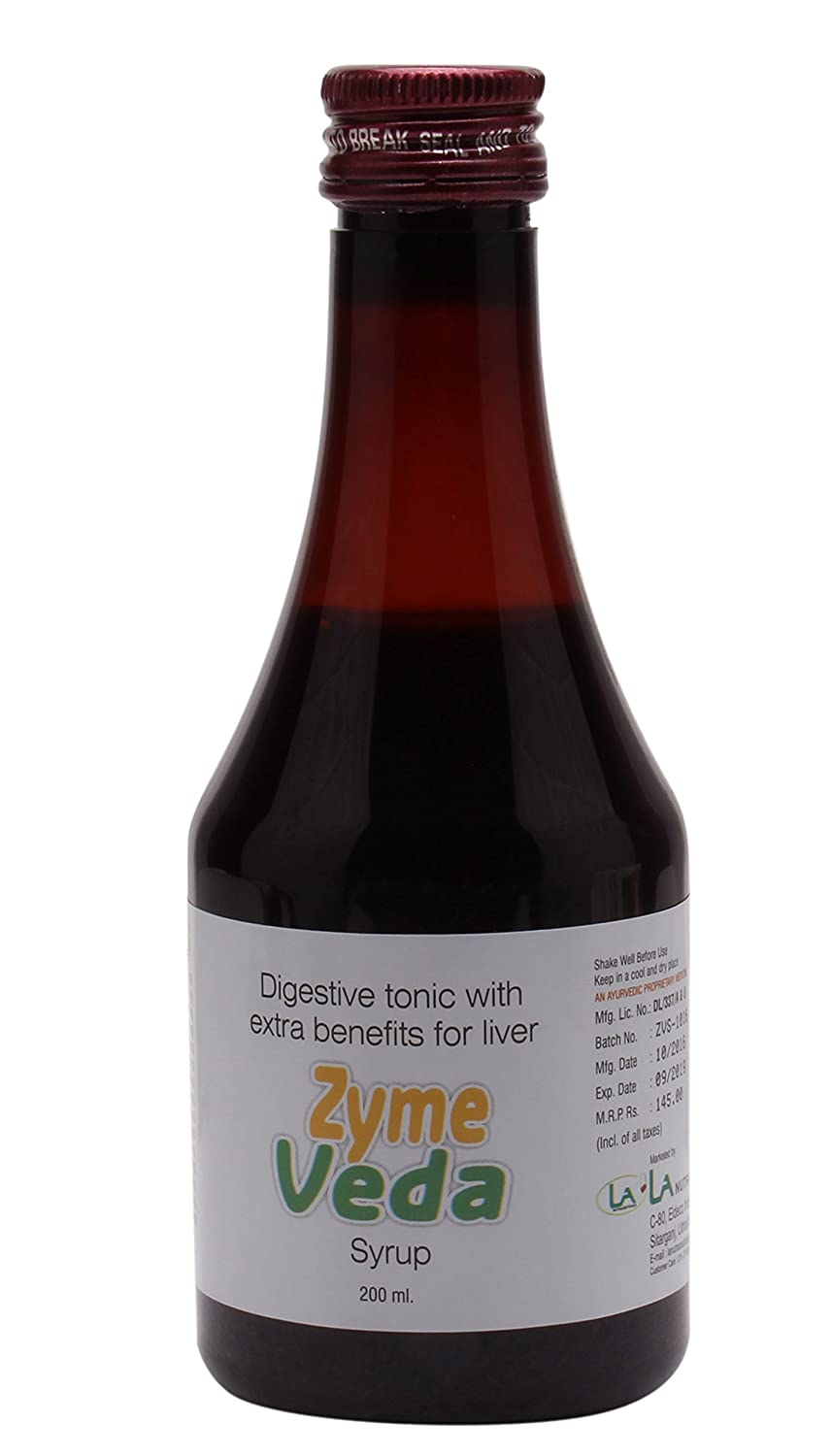 Amazon.com: La nutracéuticos Zyme Veda Jarabe: Health ...