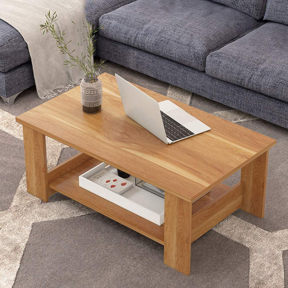 100% Origineel Moderne salontafel rechthoekige salontafel van MDF decor sofa side stable zijtafel gemakkelijk te reinigen bijzettafel voor thuis en slaapkamer B Usq3PX0