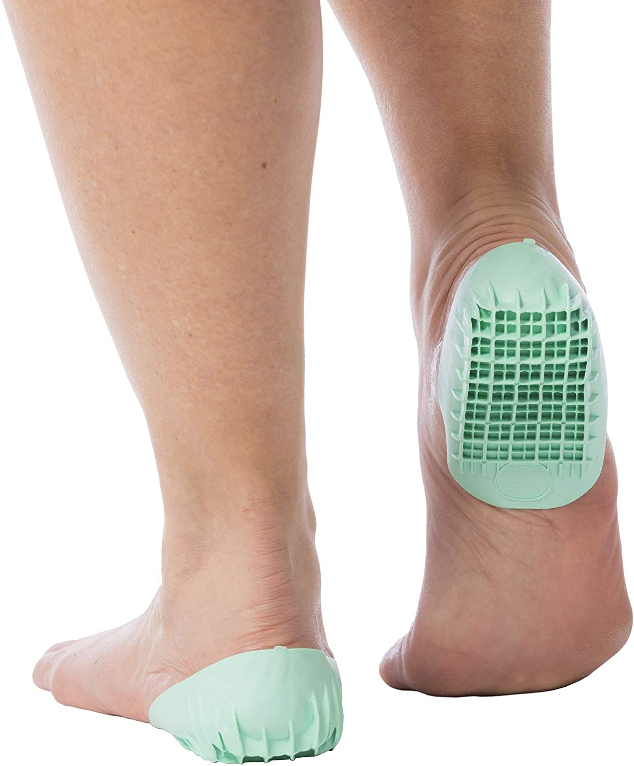 2-Pairs Severs Disease and Heel Pain Relief Tuli/'s Heavy Duty Heel Cups Green Pro Heel Cup Shock Absorption and Cushion Inserts for Plantar Fasciitis