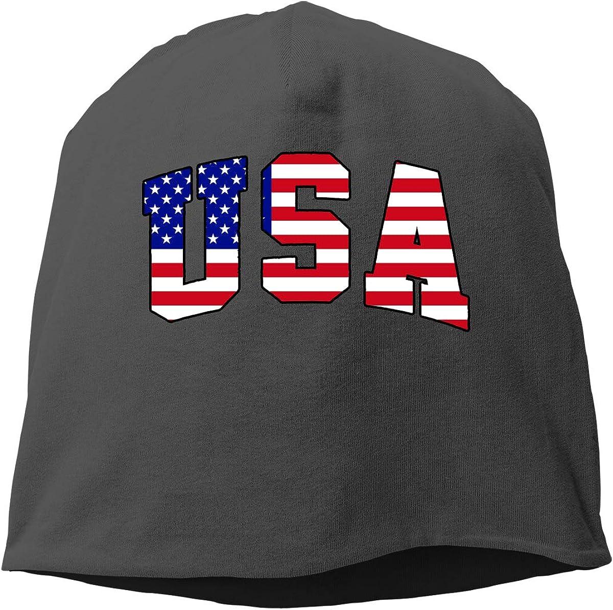 SHA45TM American Flag USA Men /& Women Winter Skull Cap Running Beanie Hat