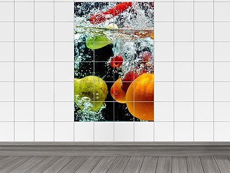 Piastrelle adesivo piastrelle immagine frutta acqua guscio bowle