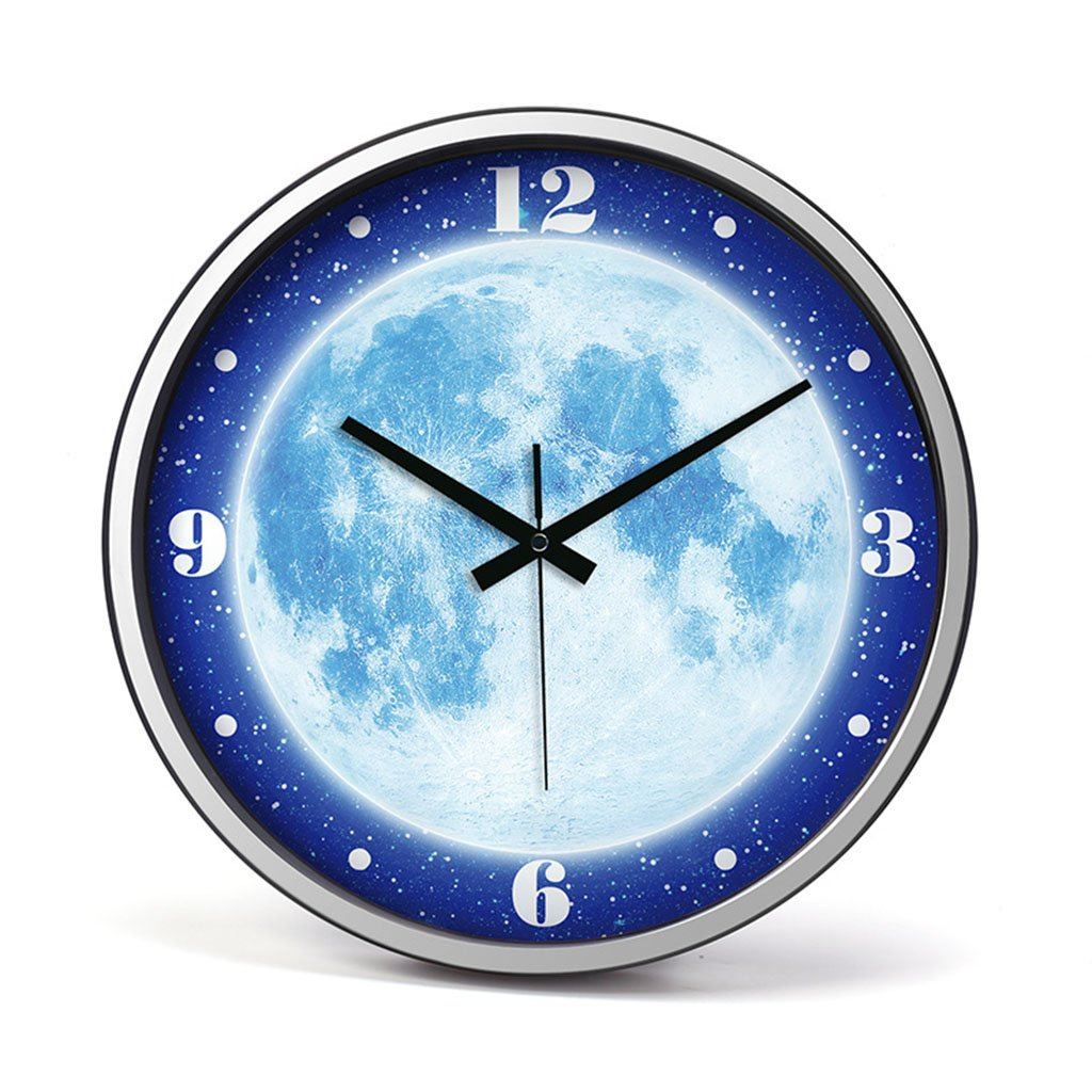 ホーム&時計 ルミナス機能、14インチLagre装飾的な夜間照明&ノンティッキング、無声クォーツの装飾的な壁時計アナログウォールクロック装飾的なリビングルーム&ベッドルーム ( 色 : A ) B07BRNMJXFA