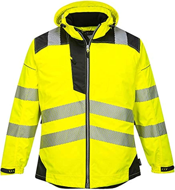 Portwest PW3 Hi-Vis Winter Jacket /& Bandana Bundle