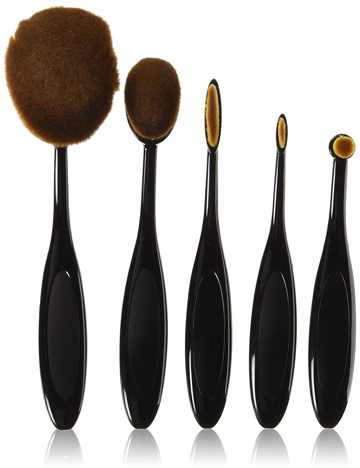 U-beauty® Profession 5pcs/set Contour Brush toothbrush Oval Blending Brush Blush Foundation Powder Eyeliner Eyeshadow Brush Make up Brush Sets
