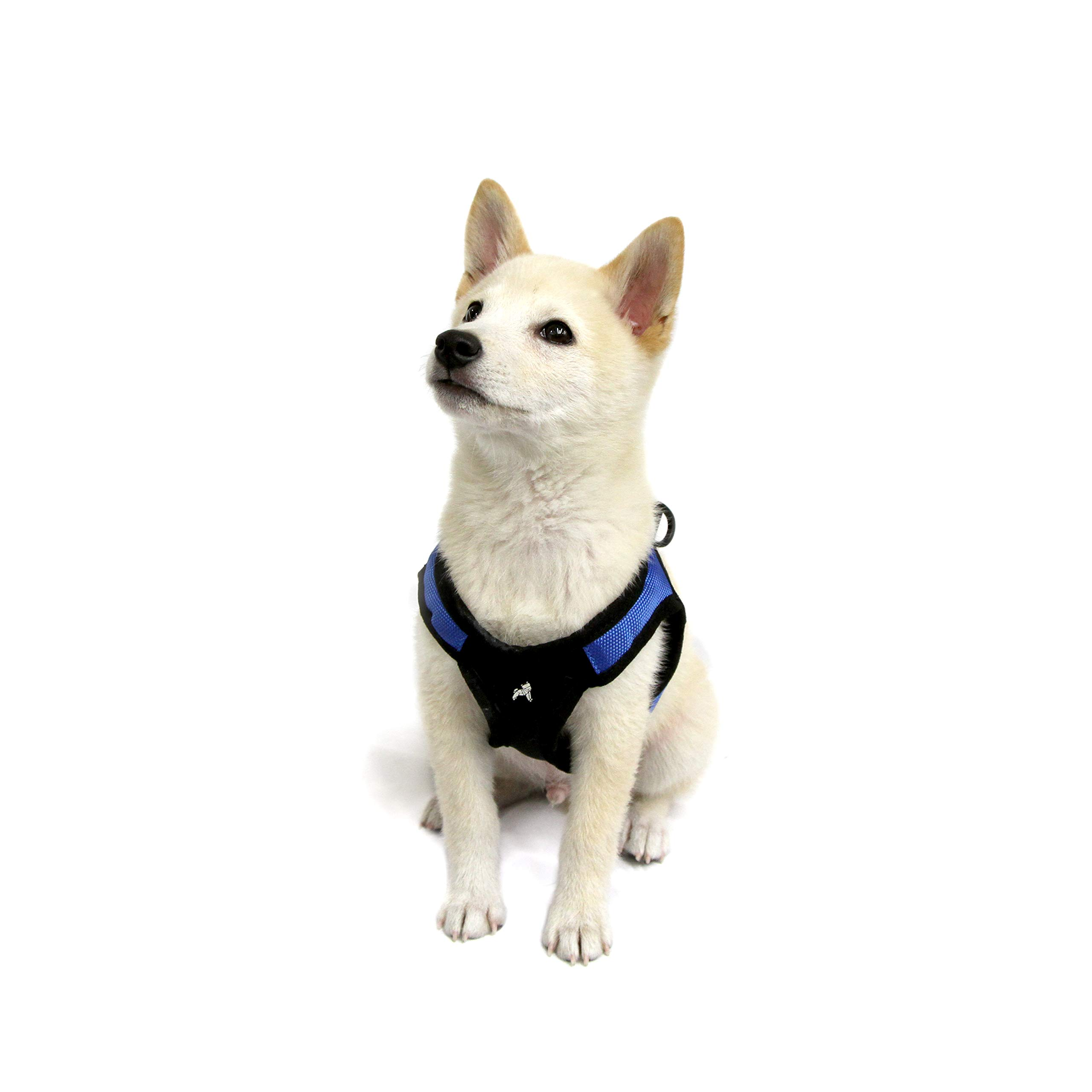 Gooby - Escape Free Easy Fit Harness, Small Dog Step-In Harness for Dogs that Like to Escape Their Harness, Blue, X-Small