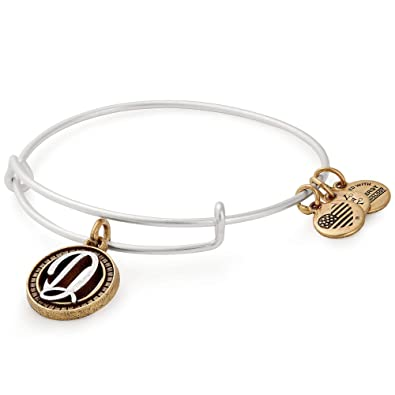 d603501b8af Amazon.com: Alex and Ani Women's Initial D Charm Bangle Two-Tone One Size:  Jewelry