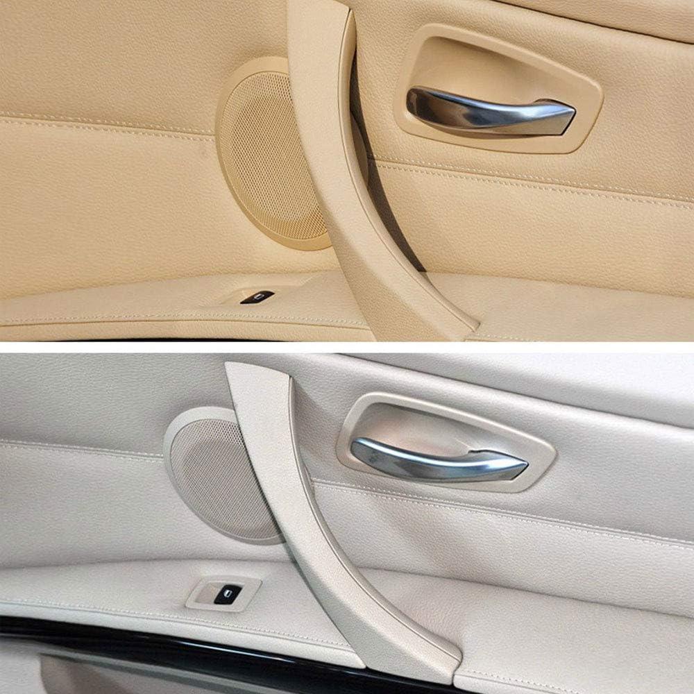 Yozhanhua Poign/ée int/érieure de Voiture pour BMW S/érie 3 E90 320 Gris Beige Noir Gauche