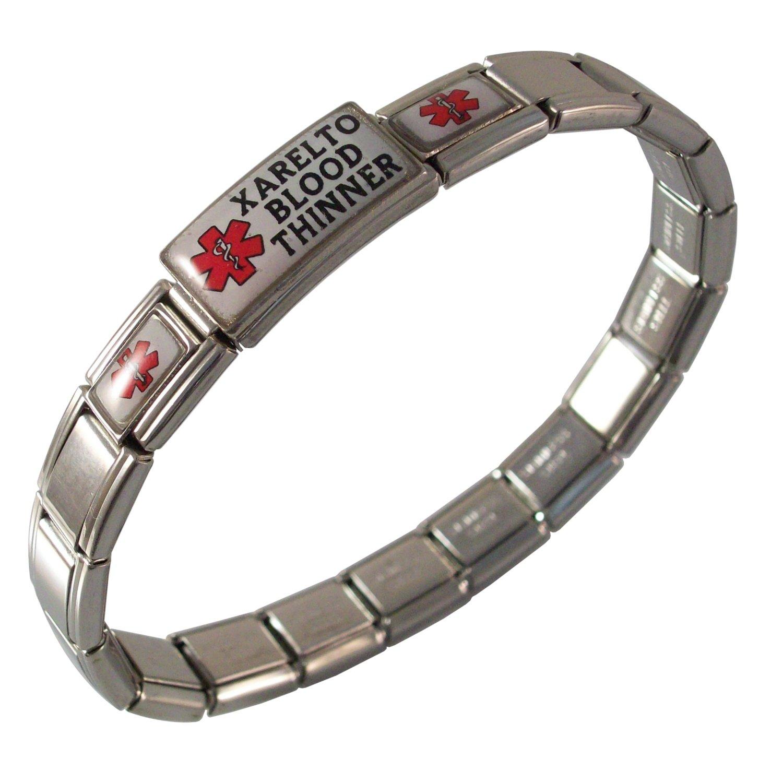 Gadow Jewelry Xarelto Blood Thinner Bracelet Medical Italian Charm Red