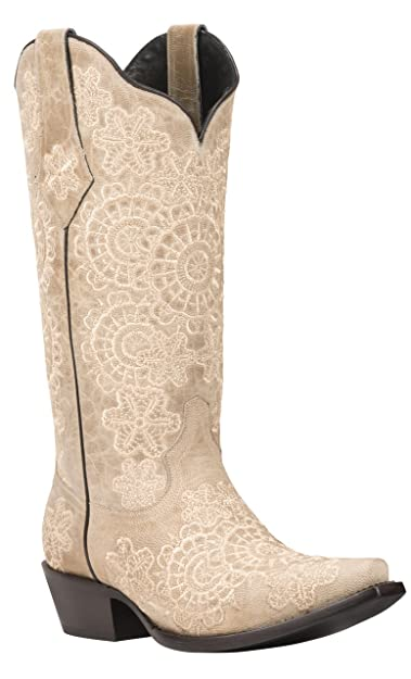 4da8453203a Black Star MEDINA (Bone) Women's Cowboy Boots