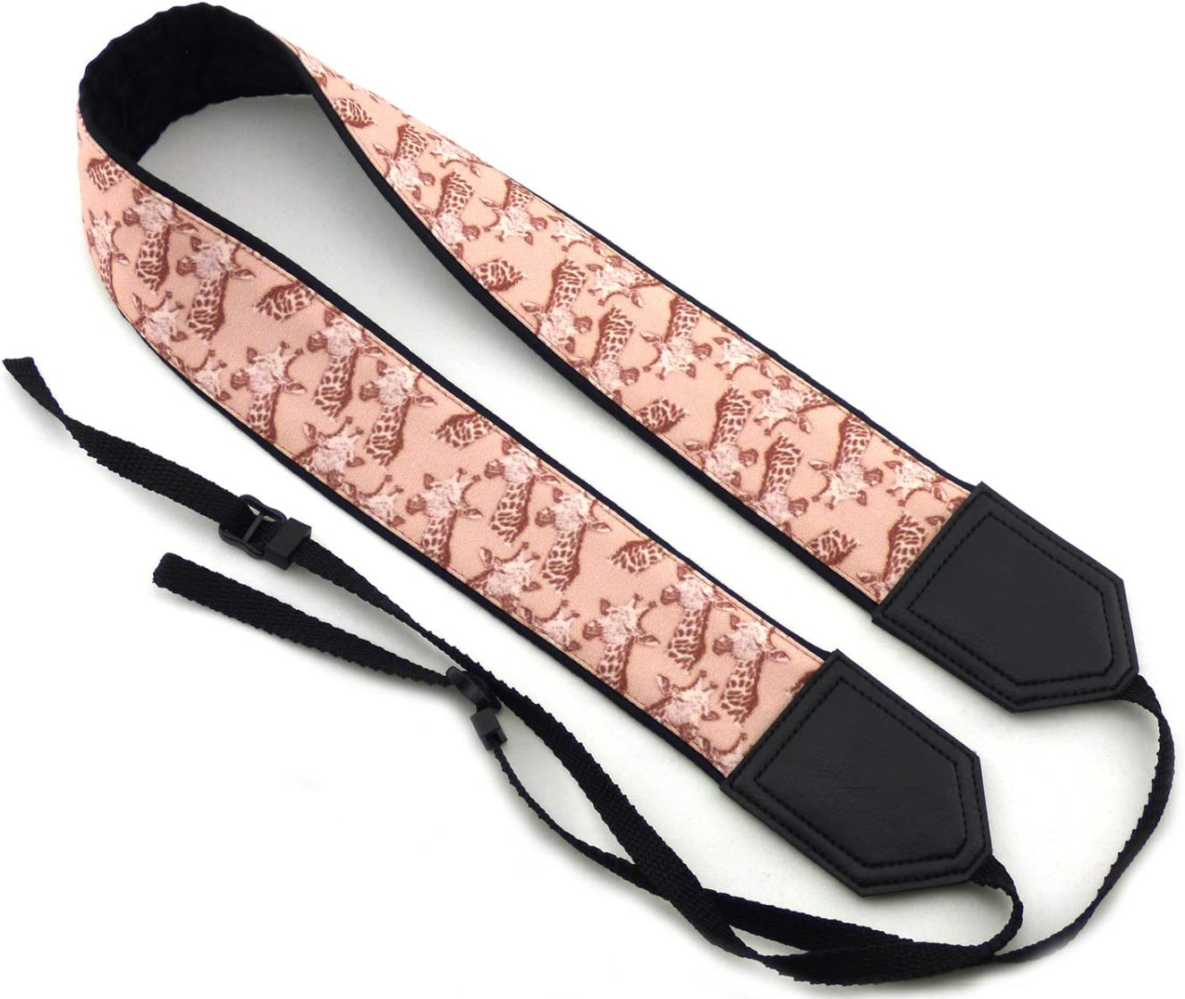 Camera Strap with Unique Animal Pattern Durable DSLR//SLR Neck Camera Strap InTePro Giraffe Camera Strap Beige Camera Strap with Animal Design Lightweight and wellpadded Gift for Animals Lovers