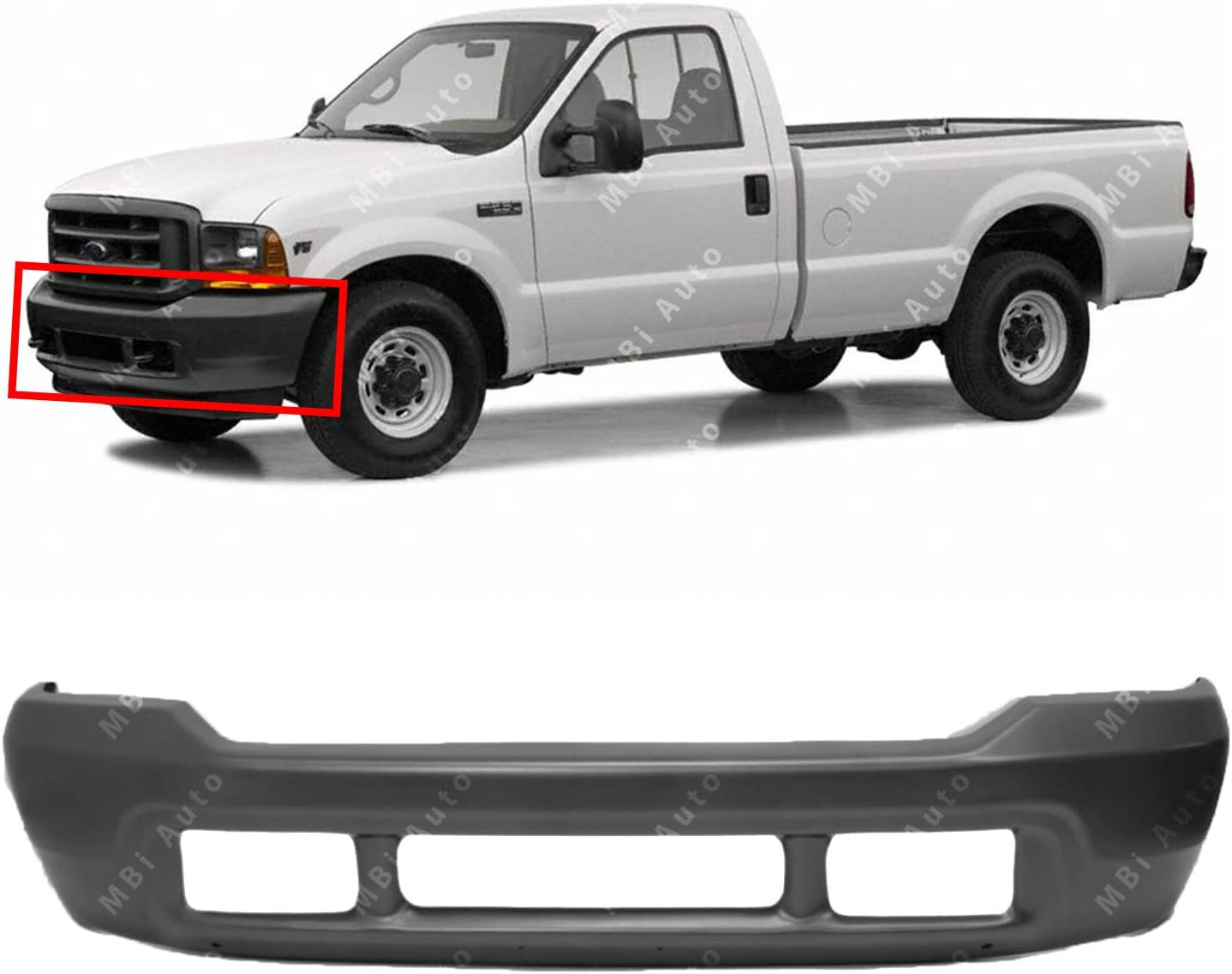 OE Replacement Ford Excursion//Super Duty Front Bumper Face Bar Partslink Number FO1002392