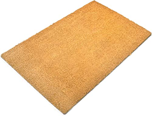 Tosnail 23.5 x 15.75 Natural Coco Coir Outdoor Doormat with Non Slip Backing
