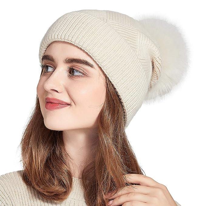 f64ea7706d4 Image Unavailable. Image not available for. Color  ENJOYFUR Winter Hats for  Women