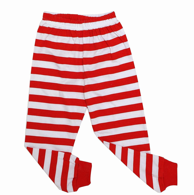 WWEXU Boys Christmas Pajamas Girls Long Sleeve Striped pjs Sets 100/% Cotton Kids Clothes
