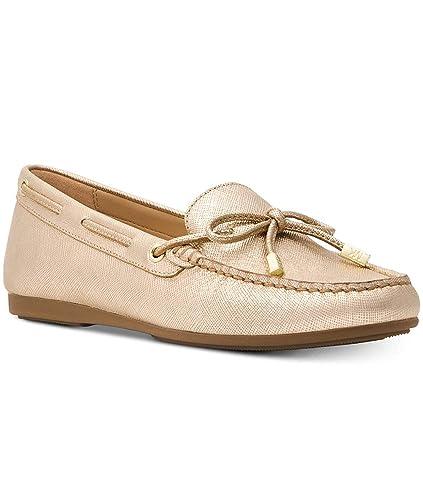 847ee1d3dc2a3a Amazon.com | MICHAEL Michael Kors Sutton Bow Moc Flats Pale Gold | Shoes