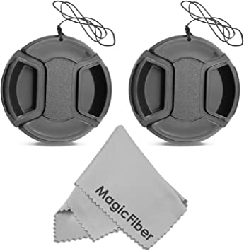 Nw Direct Microfiber Cleaning Cloth. 52mm + Lens Cap Holder Canon EOS 80D Lens Cap Center Pinch