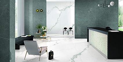 Baldosas de aspecto de mármol de gran formato, baldosas XXL, Statuario Calacatta, 1200 x 2400 x 5,5 mm, pulidas: Amazon.es: Bricolaje y herramientas