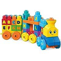 Mega Bloks Juguete ABC Tren de Aprendizaje, 50 Piezas