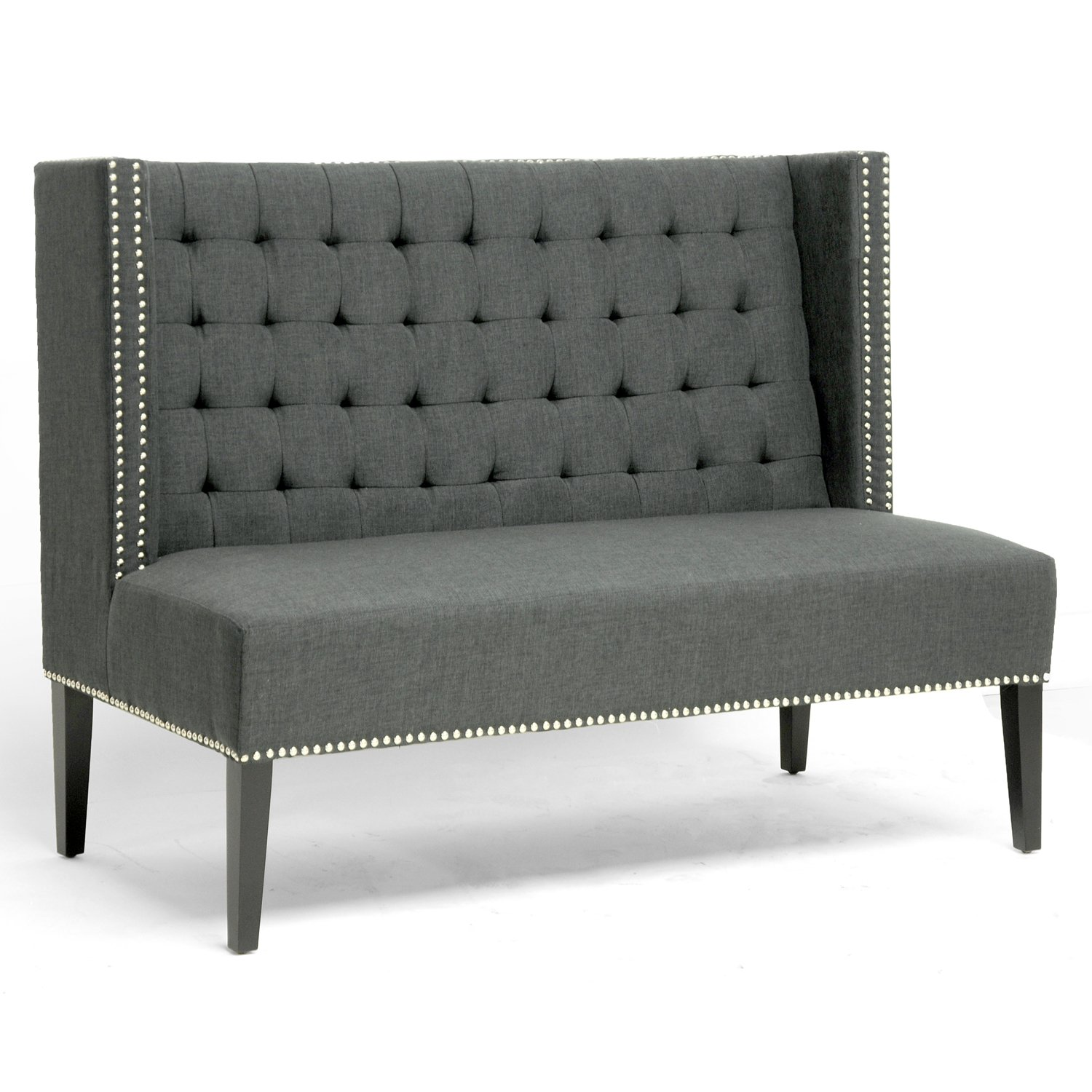 Amazon.com: Baxton Studio Owstynn Gray Linen Modern Banquette Bench:  Kitchen U0026 Dining