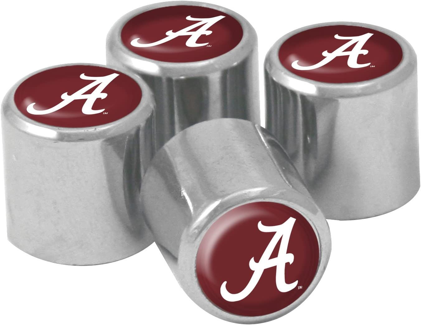 4-Pack NCAA Alabama Crimson Tide Metal Tire Valve Stem Caps