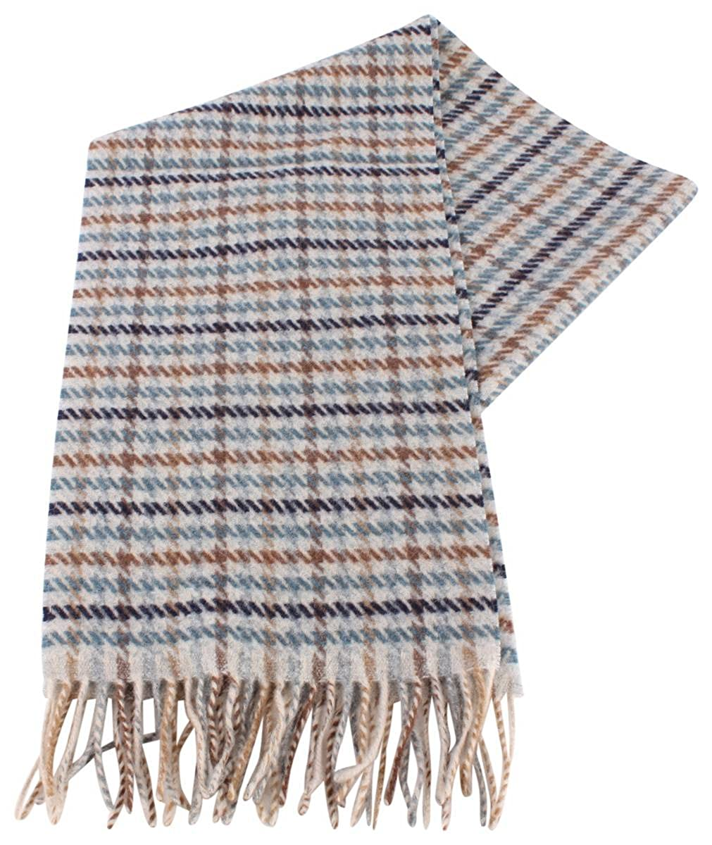 3636542e2c778 Bassin and Brown Mens Cantana Checked Wool Scarf - Blue/Brown/Beige at  Amazon Men's Clothing store: