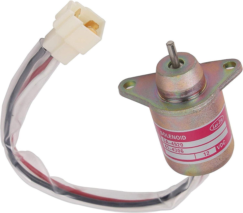 119653-77950 Fuel ShutOff Solenoid 1503ES-12S5SUC5S Replace For Yanmar 12V,NEW
