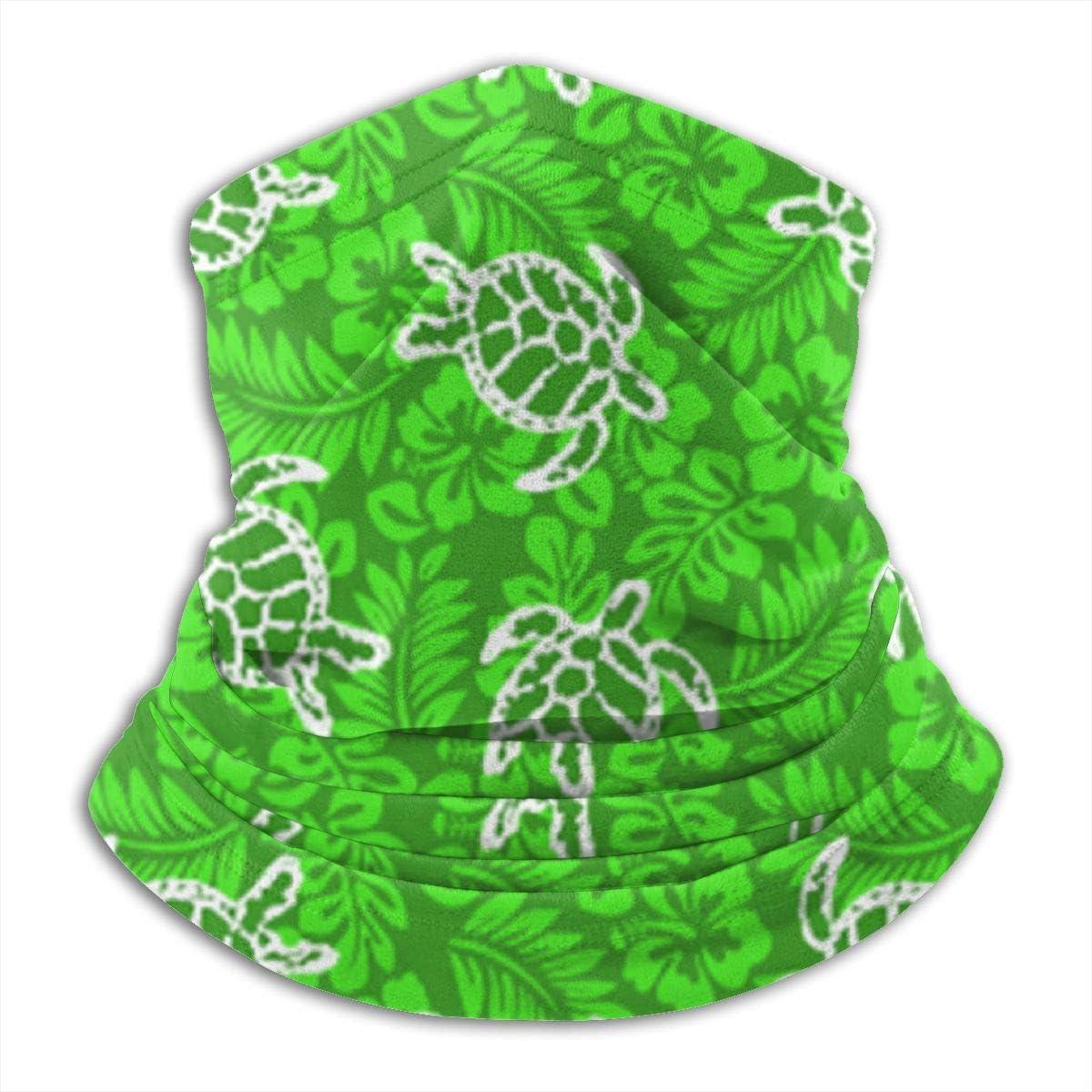 Hot Sea Turtle Hawaiian Summer Surf Fleece Neck Warmer - Reversible Neck Gaiter Tube, Versatility Ear Warmer Headband & Mask For Men And Women