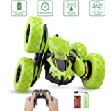 Sugoiti Remote Control Stunt Car RC 4WD Off Road Rechargeable 2.4Ghz 3D Deformation Racing Vehicle,Double Sided Rotating Tumbling 360° Flips Off Road High Speed 7.5Mph Truck,Toy Gift for Kids