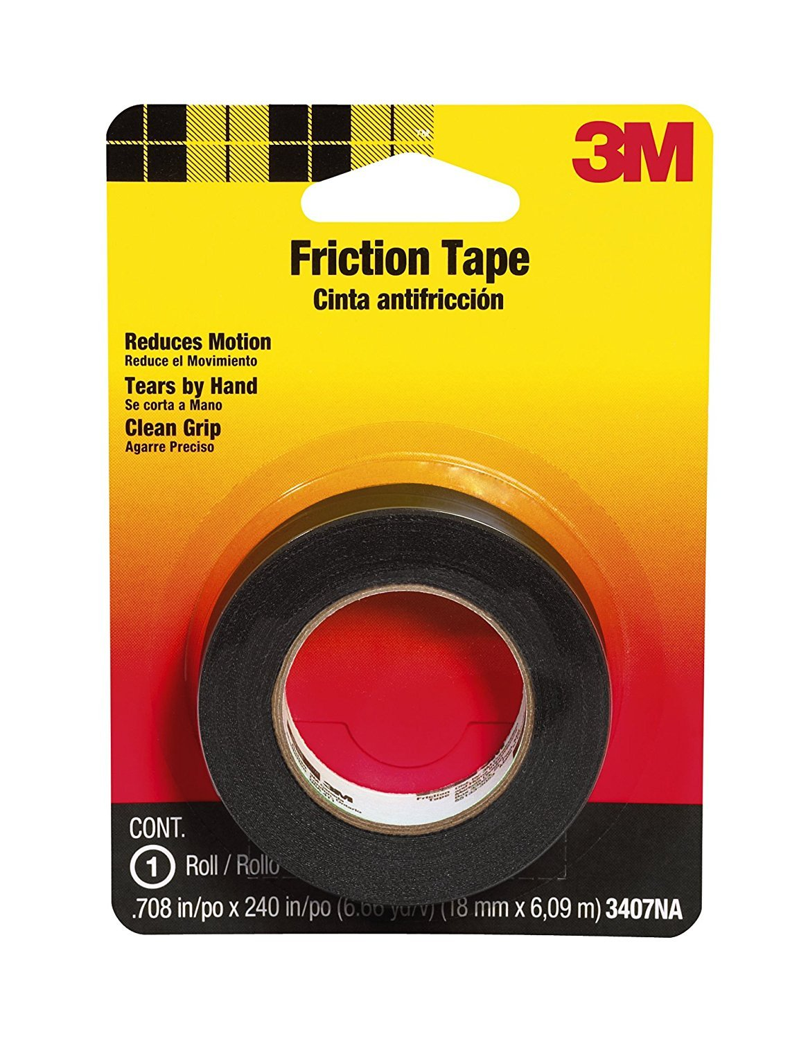 712u 6ejKCL._SL1500_ amazon com 3m 3407na friction tape, 0 708 inch x 240 inch home 3m harness tape at eliteediting.co