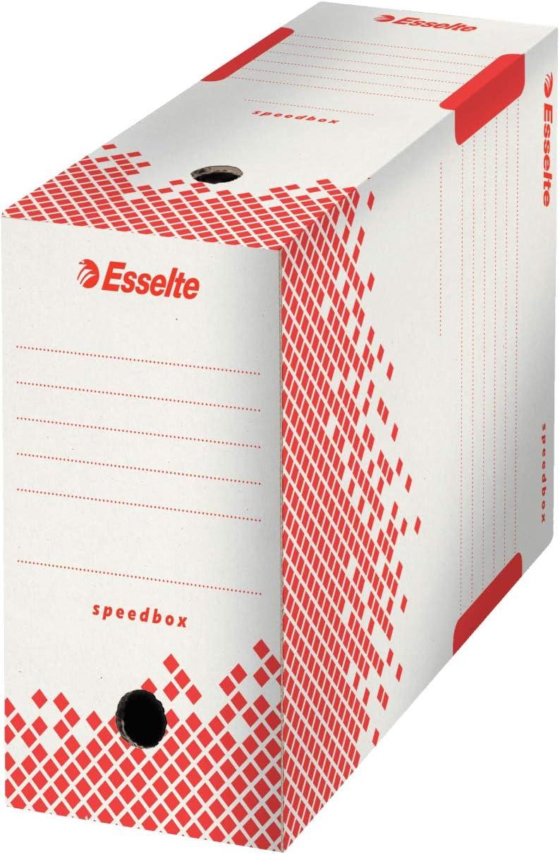 128003 A4 Bianco Esselte Scatola Archivio per Documenti a Lungo Termine Confezione da 10 Dorso da 80 Mm Boxy 80 Priva di Acidi