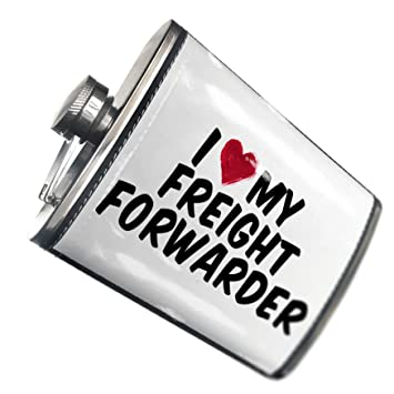Amazon com | NEONBLOND Flask I heart love my Freight