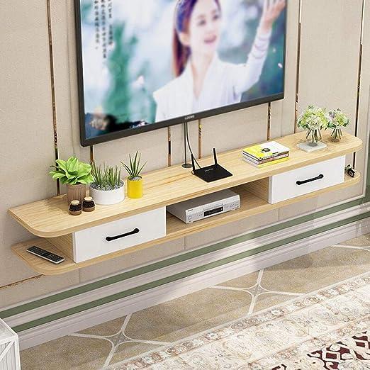 Wall shelf Moderno Mueble de TV Minimalista para Montar en la Pared, Estante Flotante de Madera para Pared de salón, Router y Consola de TV, 1002416 cm: Amazon.es: Juguetes y juegos