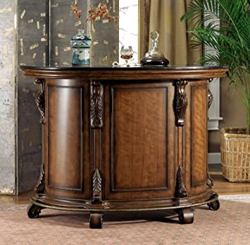 Powell Bourbon Street Traditional Bar With Black Granite Top