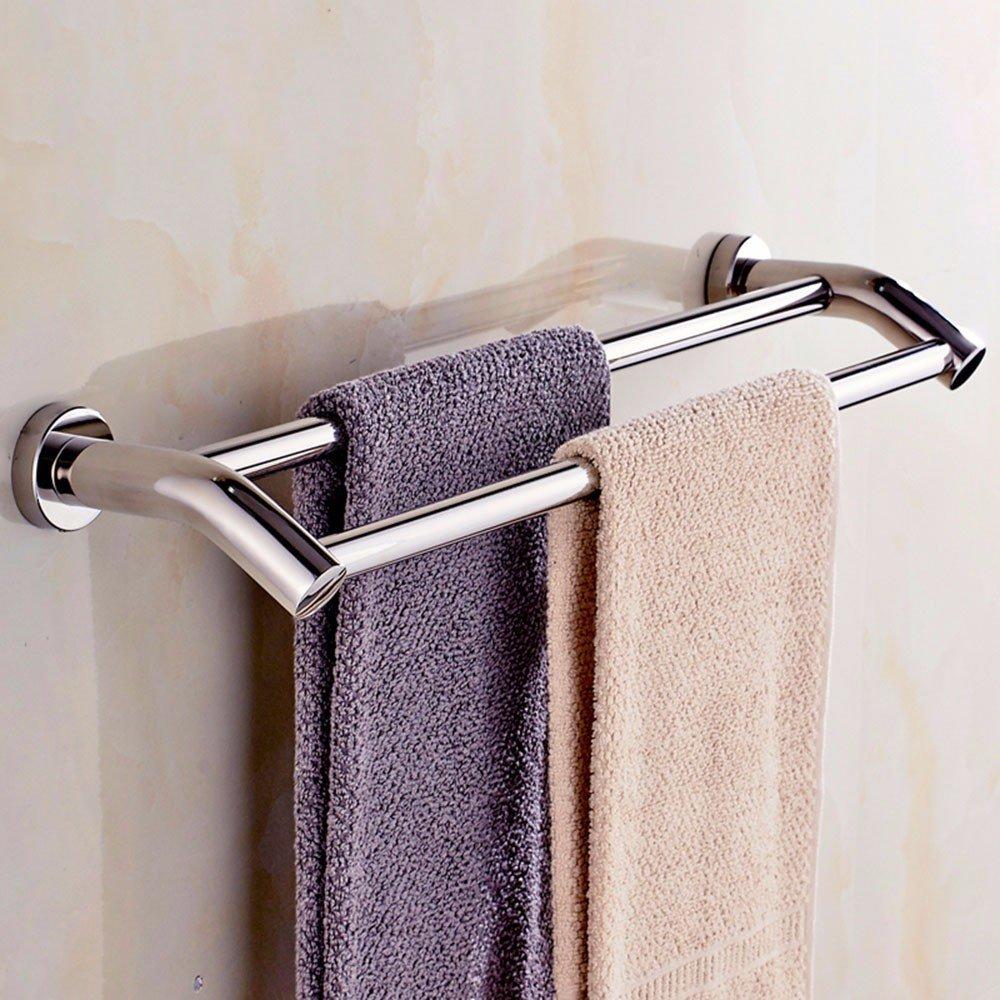 LHbox Tap Von Punch 304 Edelstahl Handtuchhalter im Badezimmer Wand Handtuchhalter WC Doppel Stange Extension-to - Verlängerungsstange, Edelstahl und Punch 1, 60 cm