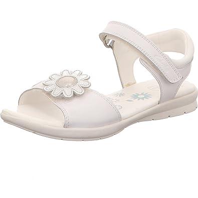 bec7aae40b871 Clarks Ziggy Days Inf-Girl's Open Toe Sandal in White Leather 12 F White