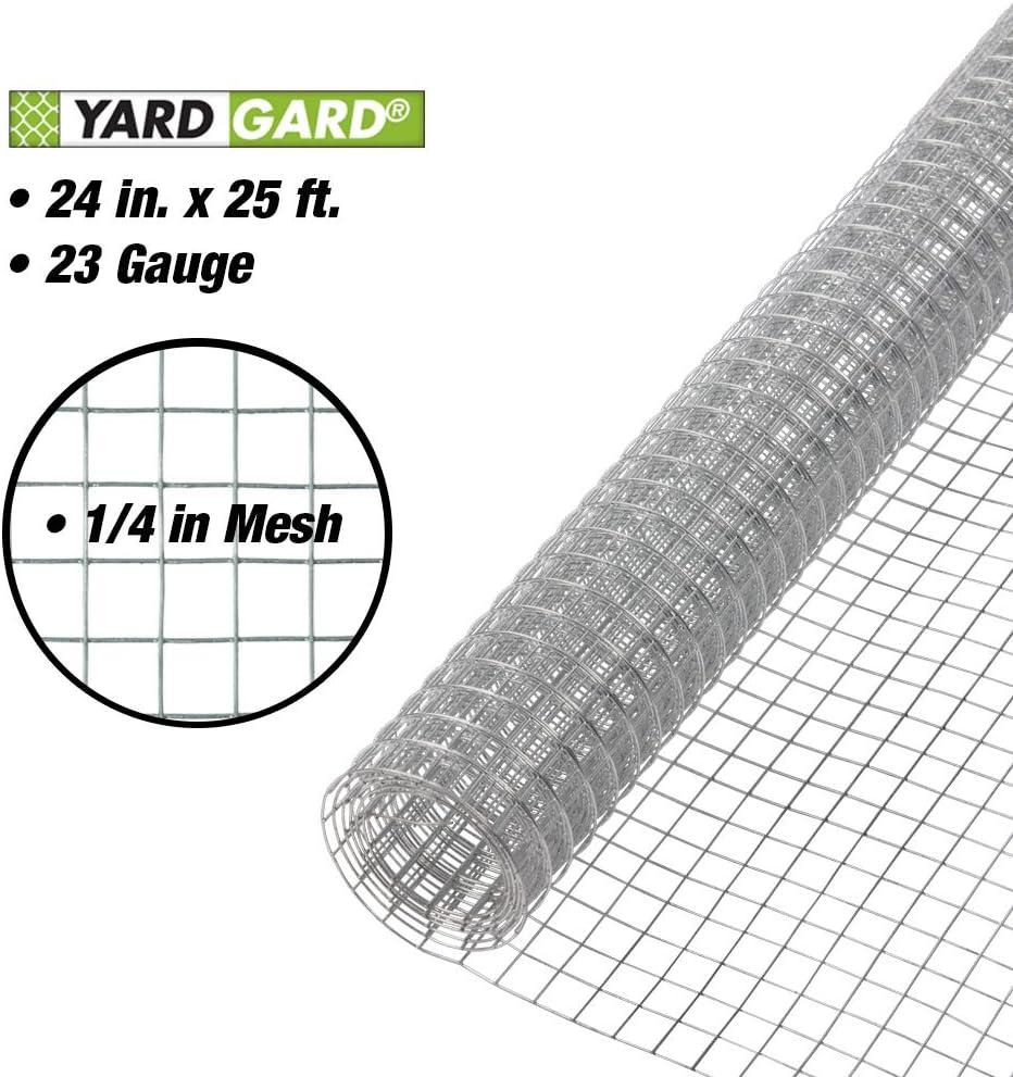 "YARDGARD 308212B Fence, 24"" X 25', Silver : Garden & Outdoor"