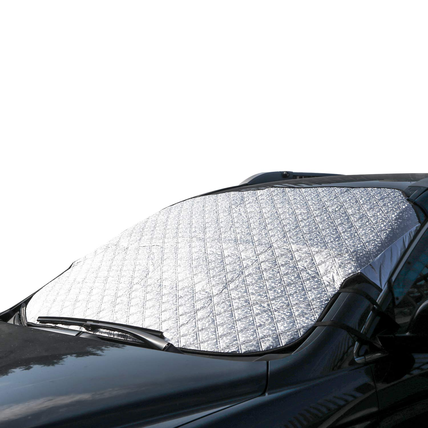 bedee Car Windscreen Snow Cover, Windscreen Sun Shade Car Windshield Dust Cover Car Window Frost Ice Snow Cover for Summer/Winter all Weather Medium