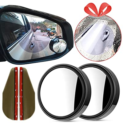 "Homesprit 2 Pack Blind Spot Mirror, 2"" Round HD Glass Convex Rear View, 360°Rotate Adjustable Wide Angle Rear View Mirror for All Universal Vehicles Car: Automotive"