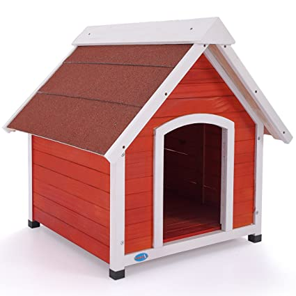 Amazoncom A Frame Dog House Solid Wood Outside Stained Rustic - Dog-house-frame