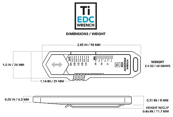 Amazon.com: Llave inglesa Ti EDC con diseño de gran IDEA ...